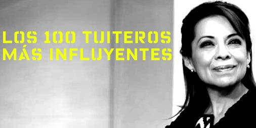 Los 100 tuiteros que más influyen en la percepción sobre VázquezMota