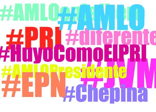 Los hashtags que acumulan más actividad sobre AMLO, Vázquez Mota y PeñaNieto