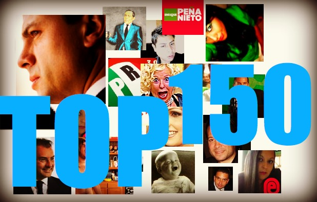 Los 150 tuiteros que más influyen en la percepción sobre Peña Nieto(abril)