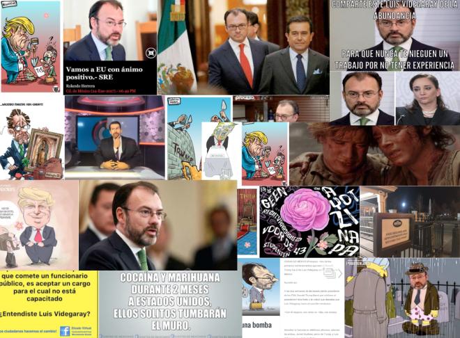 Las principales imágenes de Videgaray, el muro y Trump que circularon en Twitter esta semana.