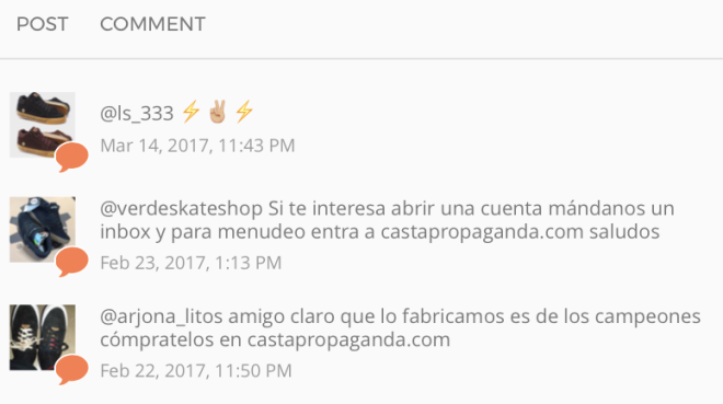 Casta-Comentarios